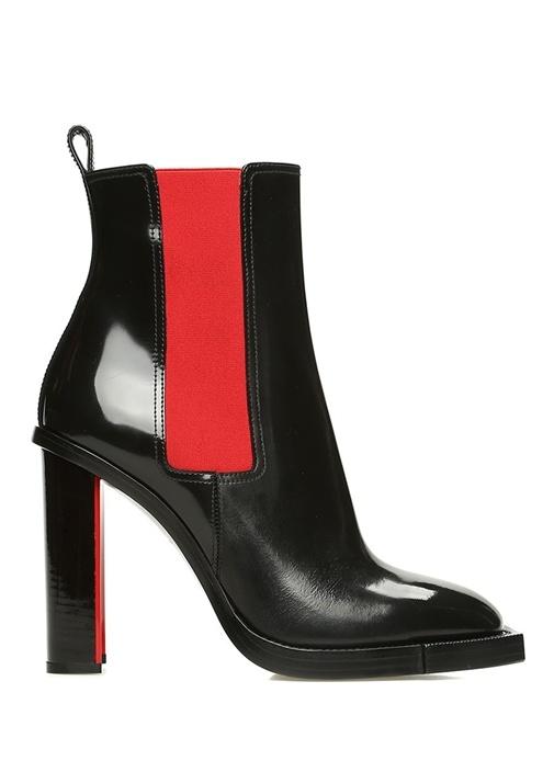 Hybrid Kırmızı Siyah Topuklu Kadın DeriBot