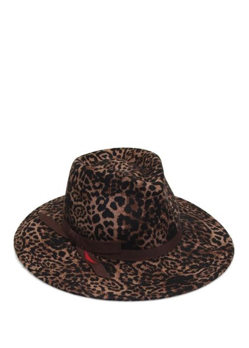 FERRUCCIO VECCHI Ferruccıo Vecchı Leopar Desenli İnce Şeritli Kadın Yün Şapka  760.0 TL