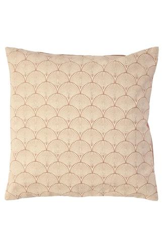 Bej Geometrik Desenli Dekoratif Yastık Kahverengi