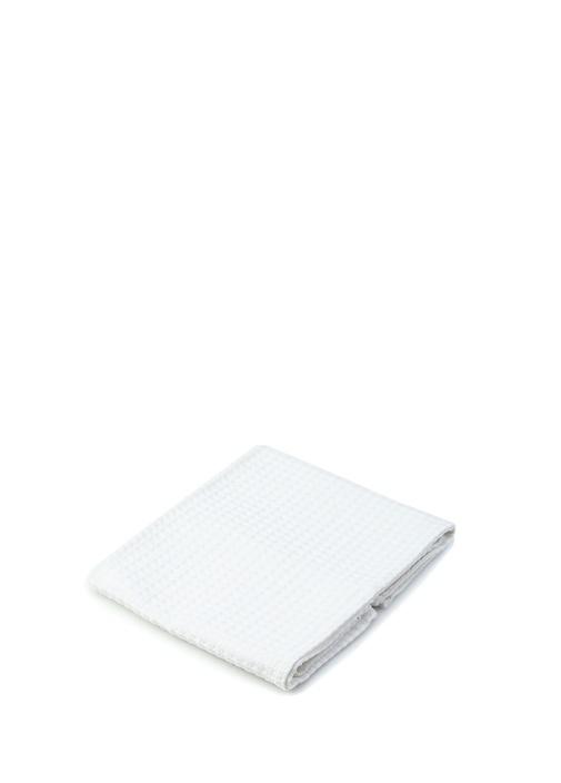 Beyaz Geometrik Desenli Kurulama Bezi