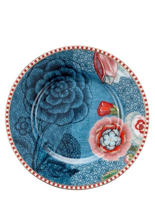 Spring To Life Mavi Petit Four Tabağı