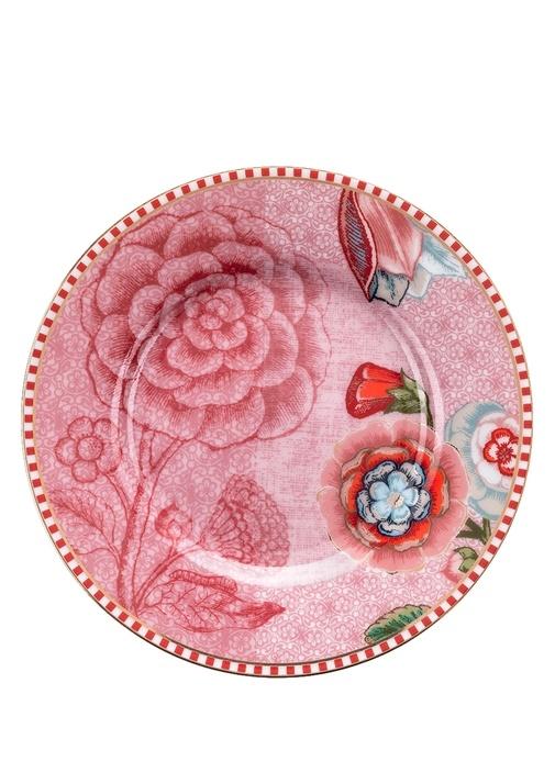 Spring To Life Pembe Petit Four Tabağı