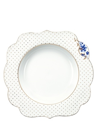 Pip Studio Royal Beyaz Altın Rengi Puantiyeli Porselen Çorba Tabağı