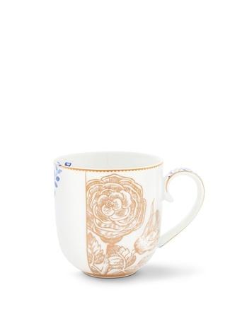 Pip Studio Royal Beyaz Altın Rengi Çiçekli Mug
