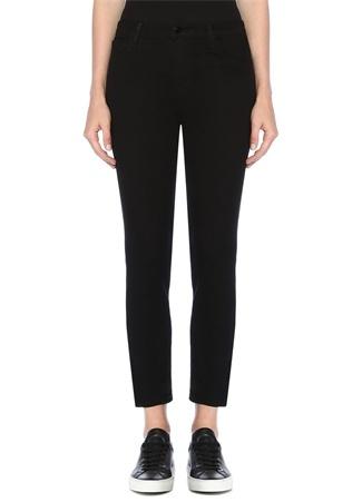 J Brand Kadın Ruby Siyah Yüksek Bel Crop Cigarette Jean Pantolon 25 US female