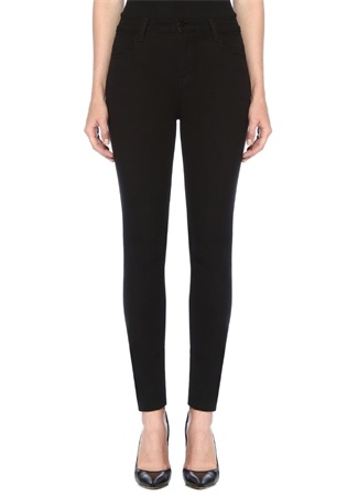 J Brand Kadın Maria Siyah Yüksek Bel Skinny Jean Pantolon 23 US
