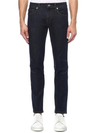 Lacivert Normal Bel Dikiş Detaylı Jean Pantolon
