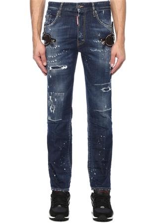 Dsquared2 Erkek Cropped Flare Mavi Kemer Detaylı Jean Pantolon 46 I (IALY) Ürün Resmi