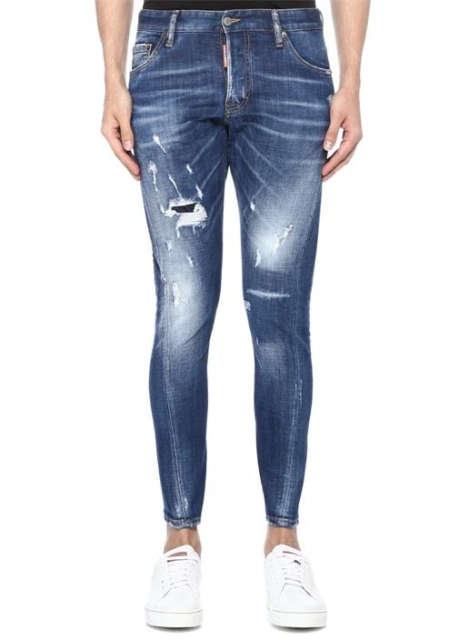 Sexy Twist Mavi Yıpratmalı Jean Pantolon
