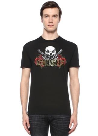 Dsquared2 Erkek Siyah Bisiklet Yaka Baskılı Basic -shirt L Ürün Resmi
