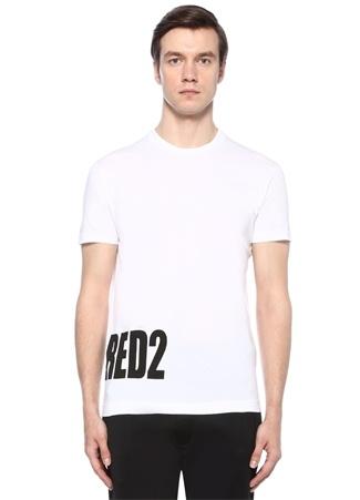 Dsquared2 Erkek Beyaz Bisiklet Yaka Logo Baskılı Basic -shirt XXXL Ürün Resmi
