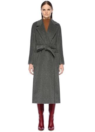 Etro Kadın Gri Kelebek Yaka Kuşaklı Yün Palto 46 I (IALY)
