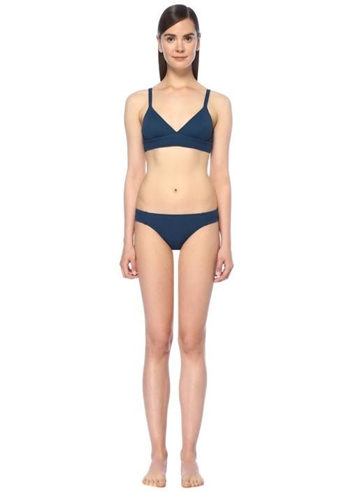 Sellier Lacivert Dikiş Detaylı Bikini Takım