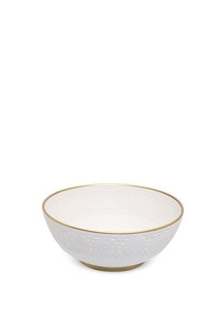 Beyaz Dantel Doku El Yapımı Seramik Kase 40 cm