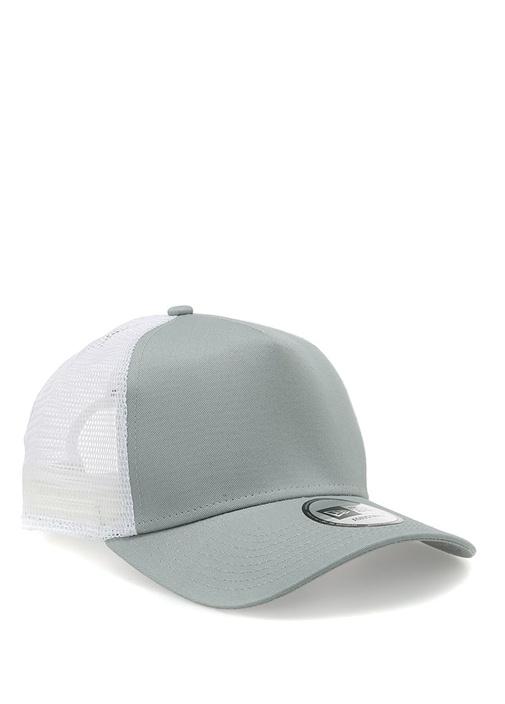 Ne Branded Trucker Gri Beyaz Erkek Şapka