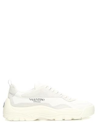 Beyaz Logolu Erkek Sneaker