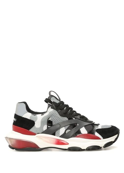 Valentino Siyah-Beyaz ERKEK  Valentino Garavani Kamuflaj Desenli Erkek Sneaker 518157 Beymen