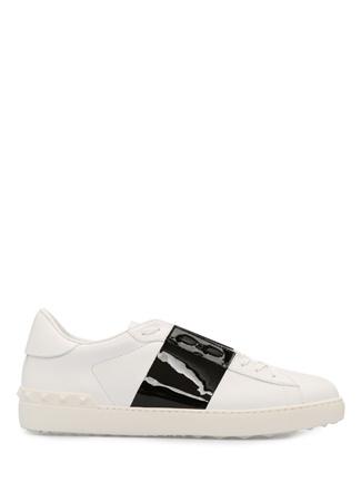 Valentino Garavani Beyaz Siyah Erkek Deri Sneaker