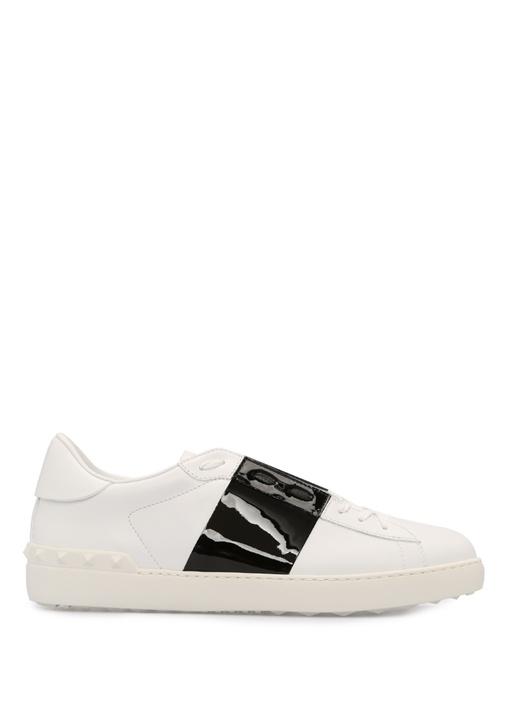 Valentino Siyah-Beyaz ERKEK  Valentino Garavani Beyaz Siyah Erkek Deri Sneaker 515225 Beymen