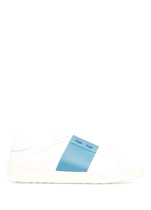 Valentino Mavi-Beyaz ERKEK  Valentino Garavani Beyaz Erkek Deri Sneaker 518176 Beymen