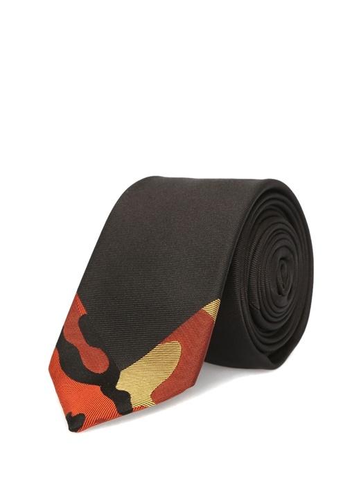 Valentino Garavani Siyah İpek Kravat