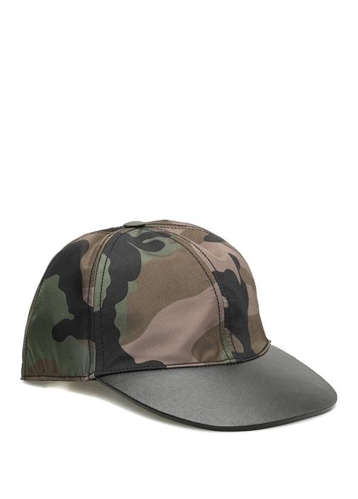 Haki Kamuflaj Desenli Erkek Şapka