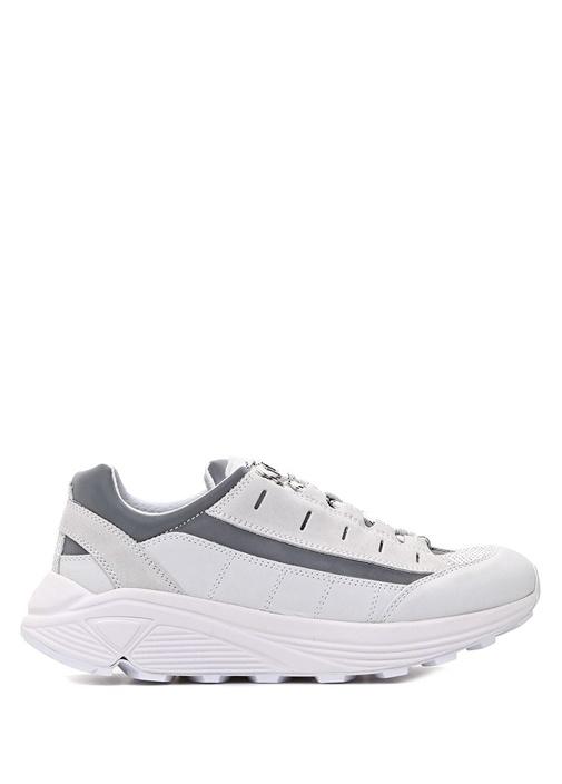İrıs Beyaz Logolu Kadın Süet Sneaker