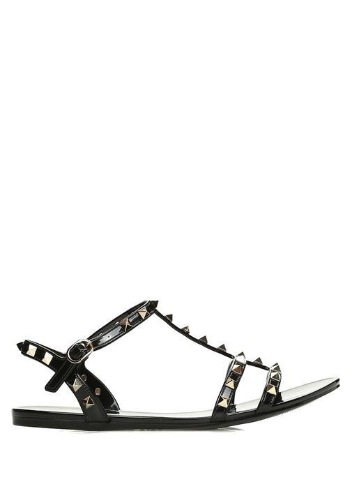 Rockstud Siyah Kadın Sandalet