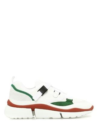 Chloe Kadın Sonnie Beyaz File Dokulu Sneaker 40 EU