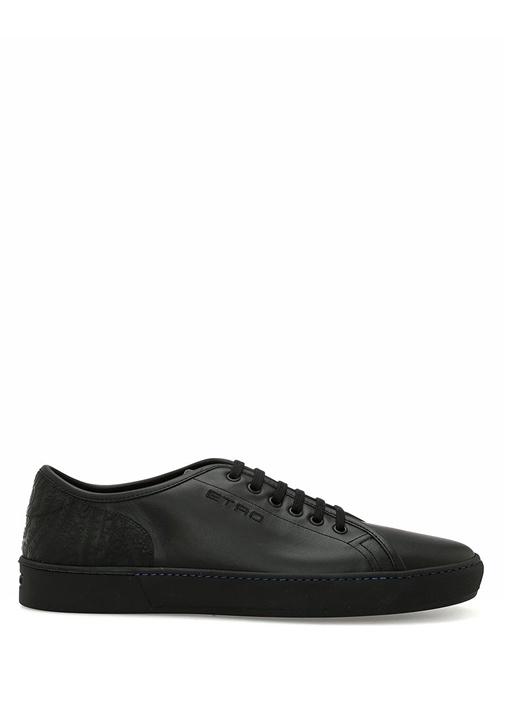 Etro Siyah ERKEK  Siyah Etnik Desen Detaylı Erkek Deri Sneaker 515943 Beymen