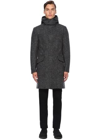 Etro Erkek Gri Etnik Desenli Kapüşonlu Yün Palto 52 I (IALY) Ürün Resmi