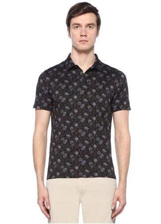 Etro Erkek Bordo Mavi Polo Yaka Çiçek Desenli -shirt XL Ürün Resmi