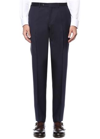 Drop 6 Lacivert Normal Bel Boru Paça Yün Pantolon