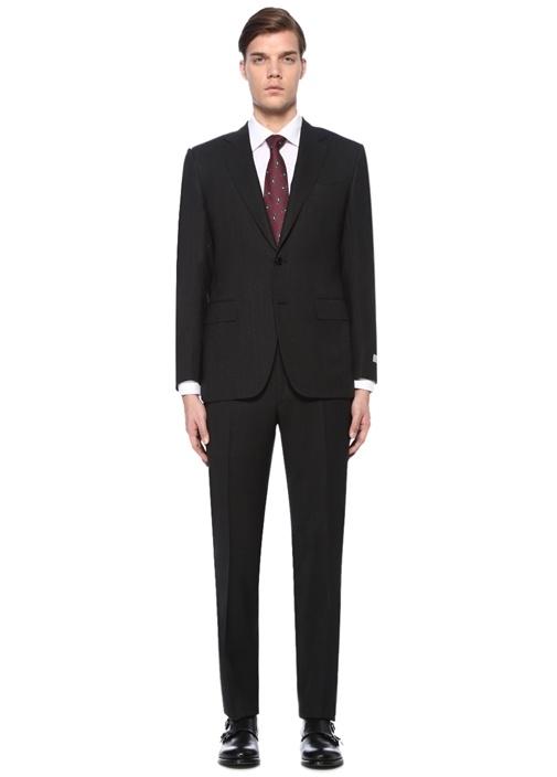 Drop 6 Antrasit Dokulu Yün Takım Elbise
