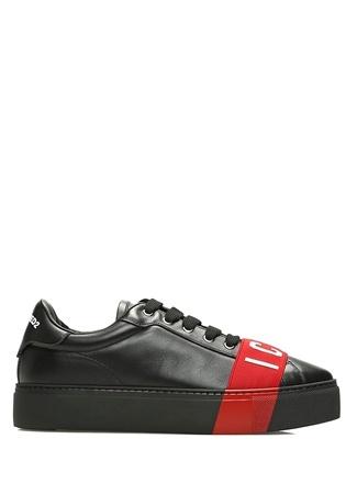 Dsquared2 Kadın Icon Siyah Kırmızı Bant Detaylı Deri Sneaker 40 R Ürün Resmi