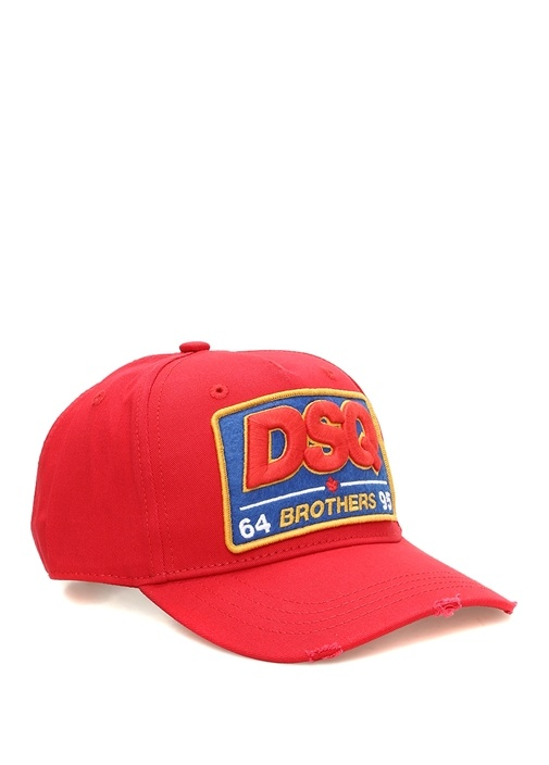 Kırmızı Logo Patchli Erkek Şapka