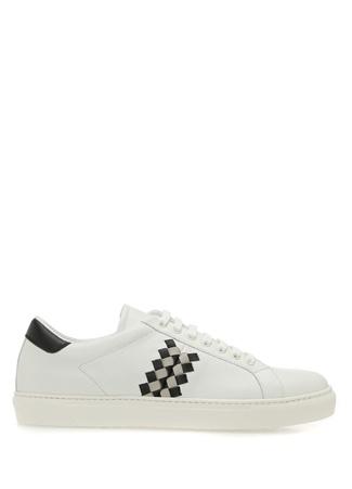 Bottega Veneta Erkek Beyaz Örgü Dokulu Deri Sneaker 42.5 R Ürün Resmi