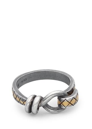 Bottega Veneta Erkek Silver Düğüm Formlu Yüzük Gri 21 Ürün Resmi