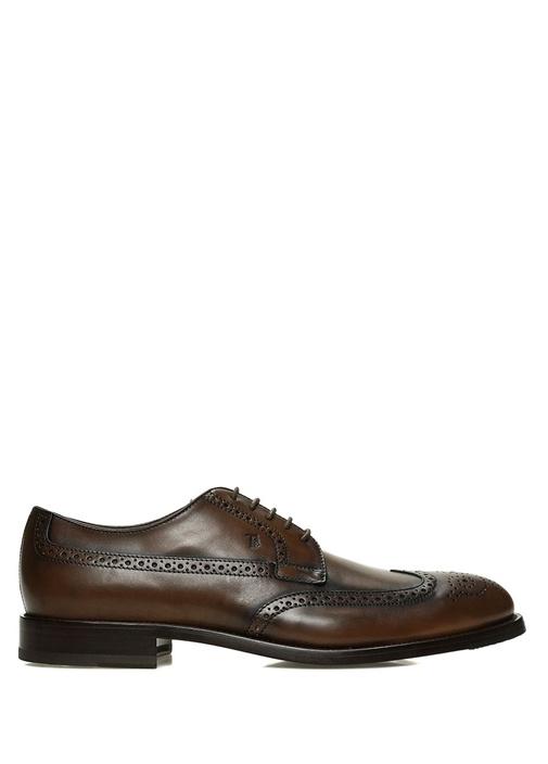 Tod's Kahverengi ERKEK  Kahverengi Delik Detaylı Erkek Deri Ayakkabı 526865 Beymen