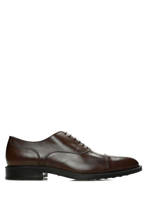 Kahverengi Logolu Erkek Deri Ayakkabı