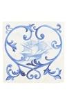 Beyaz Mavi Yelkenli Baskılı İpek Poşet Mendil
