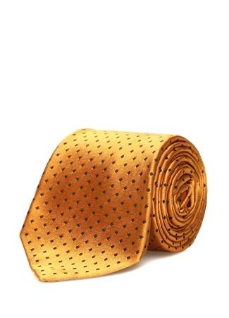 Kiton Erkek Sarı Mikro Desenli İpek Kravat Ürün Resmi