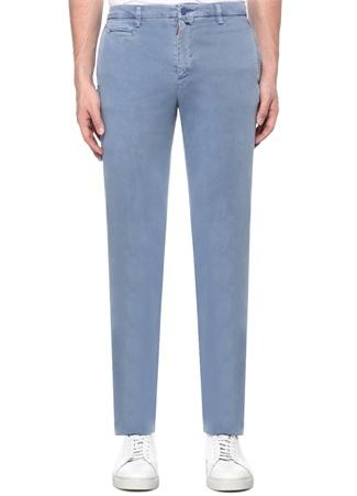 Erkek Mavi Normal Bel Boru Paça Pantolon 35 US