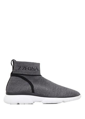 Z Zegna Erkek Antrasit Logolu Çorap Formlu Yün Sneaker Sarı 10.5 I (IALY) Ürün Resmi