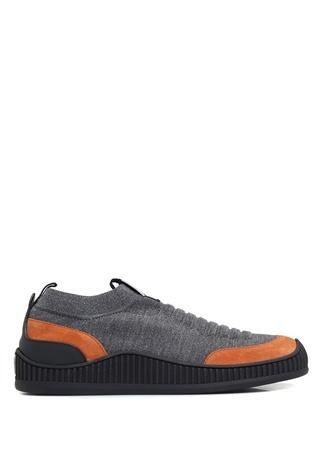 Erkek Gri Turuncu Çorap Formlu Sneaker 7 UK