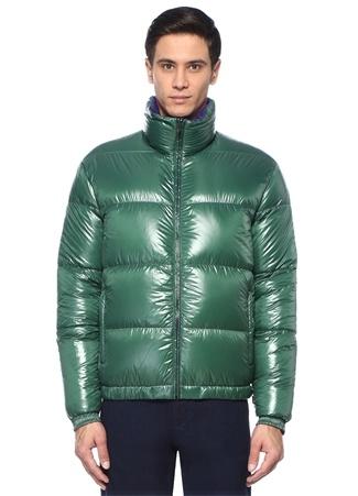 Z Zegna Erkek Lacivert Yeşil Çift araflı Puff Mont Mor XL I (IALY) Ürün Resmi