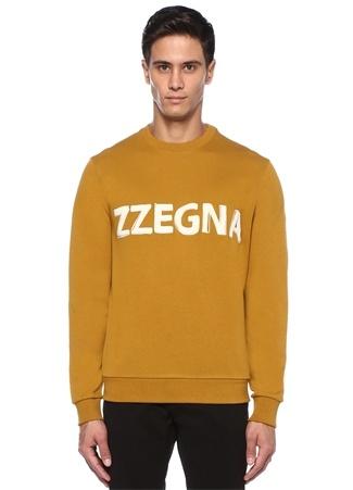 Z Zegna Erkek Sarı Bisiklet Yaka Kabartmalı Logolu Sweatshirt L I (IALY) Ürün Resmi