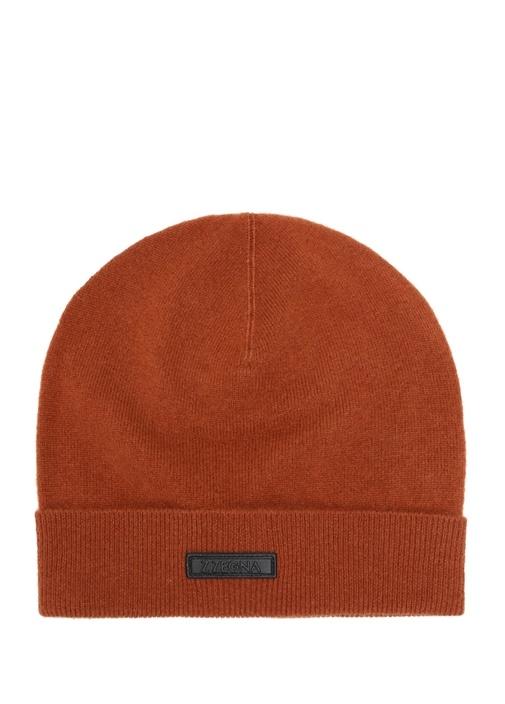 Turuncu Logolu Erkek İpek Şapka