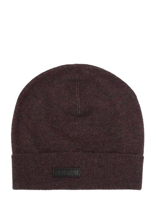 Kahverengi Logolu Erkek İpek Şapka