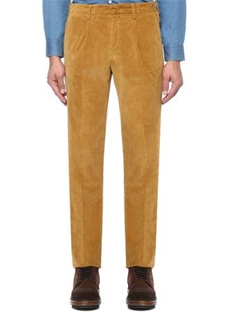 Z Zegna Erkek Hardal Normal Bel Kadife Pantolon Sarı 50 I (IALY) Ürün Resmi